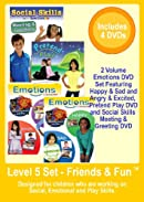 Level 5   -     Friends & Fun Set    -  Appropriate for Children Working on Social, Emotional and Play Skills  -  4 DVDs