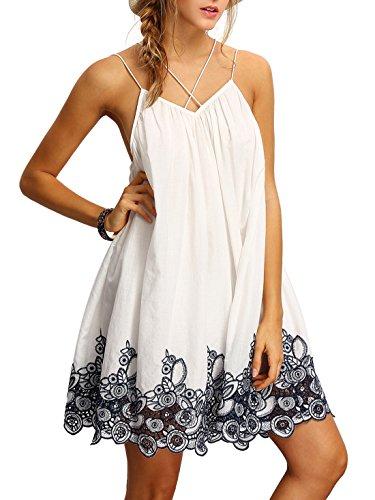ROMWE-Womens-Summer-Sundress-Printed-Casual-Mini-Beach-Floral-Tunic-Dress