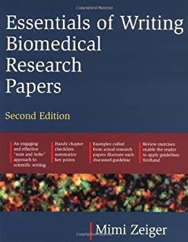 essentials of writing biomedical research papers - mimi zeiger