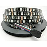 Long Dream Black PCB Board Waterproof 5M 300x5050 SMD Warm White Light LED Strip Lamp DC 12V,waterproof rgb led strip lights how to install strip led lights lighting in kitchen led flexible tube lights