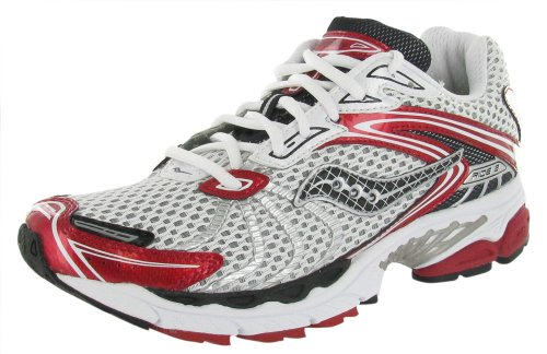 Saucony Men's ProGrid Ride 3 Running Shoe,White/Black/Red,10.5 M US