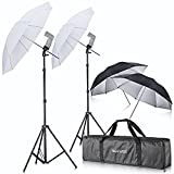 Neewer-Off-Camera-Double-Speedlight-Flash-ShoeMount-Swivel-Soft-Umbrella-Kit-for-Canon-430EX-II580EX-II600EX-RTNikon-SB600-SB800-SB900Yongnuo-YN-560YN-565Neewer-TT560TT680TT850TT860