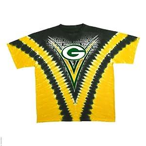 Green Bay Packers Logo V Tie Dye T-shirt by Liquid Blue
