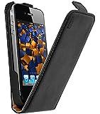 mumbi Premium Ledertasche Flip Case für iPhone 4S 4