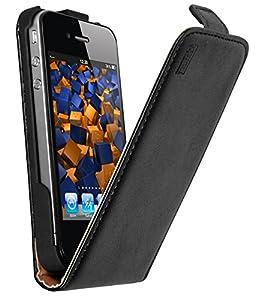 Mumbi Etui à rabat en Cuir pour Apple iPhone 4/4S Noir