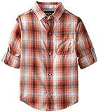 Calvin Klein Little Boys' Acceleration Check Long-Sleeve Shirt