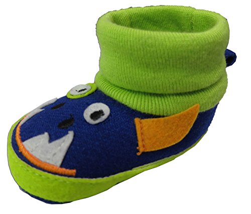 Rising Star Blue Match Monster Sock Top Slippers Size 3-6 Months [3012]