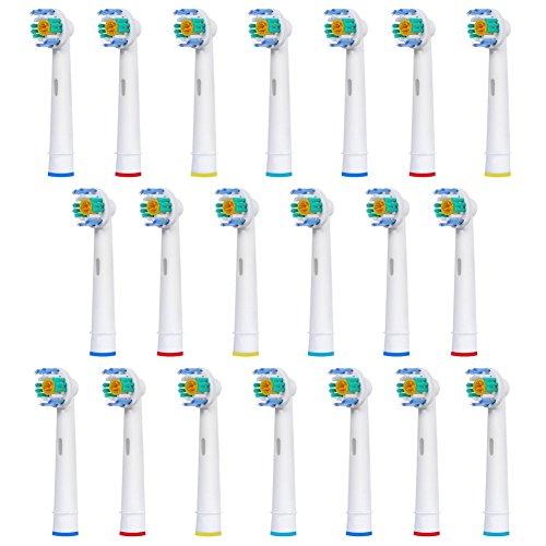 FantasyDay 20 stk Aufsteckbürsten Kompatibel für Braun Oral-B Zahnbürsten - Modell EB18-A - Kompatibel mit allen Oral B ElektrischeZahnbürste ( außer Sonic / Pulsonic )
