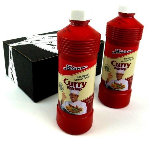 Zeisner Curry Ketchup, 17.5 oz Bottles in a Gift