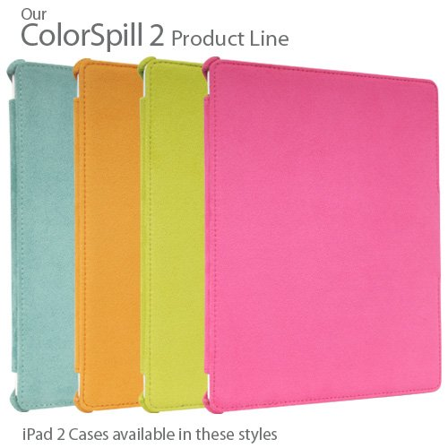 Colorspill 2 Microfiber iPad 2 Case - Available Colours