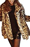 Winter Warm Sexy Tiger Leopard Print Faux Fur Coat Jacket
