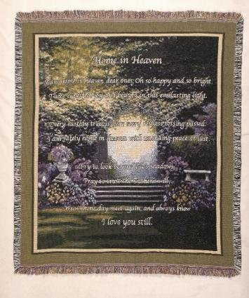 Home In Heaven Deluxe Tapestry Throw Blanket Usa Made front-954922