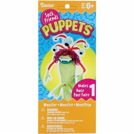 Darice SPD-111 Sock Puppet Kit-Monster Three - 1