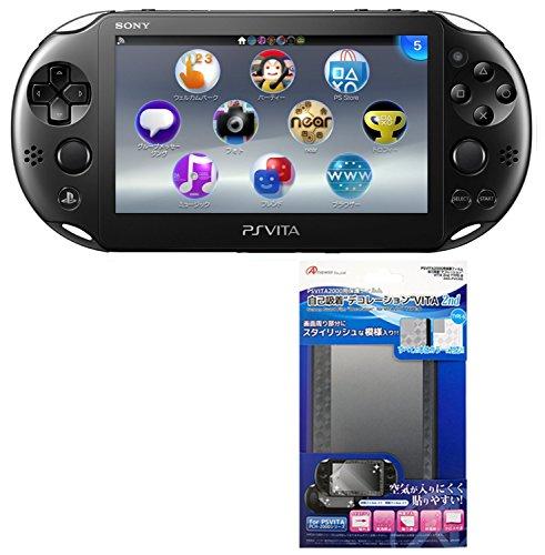 PlayStation Vita Wi-Fi models black (PCH-2000ZA11) [Amazon.co.jp limited edition bonus] ar PSVITA2000 for LCD protection film self adsorption decoration 2nd type-b with