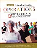 Introduction to Operations & Supply Chain Management MIS 302 (Custom Edition for San Diego State University) (0077663837) by F. Robert Jacobs