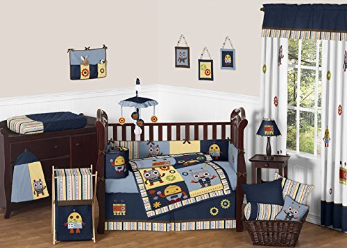Robot Nursery Bedding