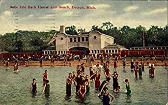 Belle isle bath house and beach detroit michigan original for Bath house michigan