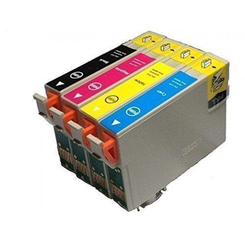 Replacing Epson 220 220XL T220120 T220XL120 T220XL220 T220XL320 T220XL420 Color Set Ink Cartridge Use for Epson Expression XP-420 WorkForce WF-2630 WF-2650 WF-2660 Series Printers (T220 - 1K/1C/1M/1Y)