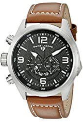Swiss Legend Men's 10020-01-BRW Highlander Stainless Steel Watch with Brown Leather Band