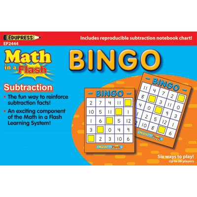 Edupress Ep-2444 Math In A Flash Bingo Subtraction