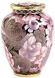 Near & Dear Pet Memorials Elite Cloisonné Floral Blush Pet Cremation Urn, 50 Cubic Inch, Pink