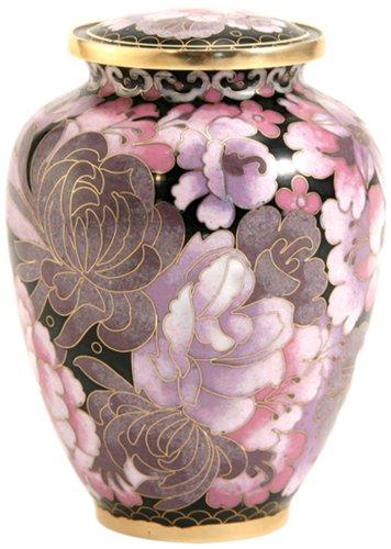 Near & Dear Pet Memorials Elite Cloisonné Floral Blush Pet Cremation Urn, 50 Cubic Inch, Pink (Pink Pet Urns compare prices)