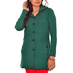 Montrex Womens Acro Wool Sweater(1211GREEN-L_Green_Large)