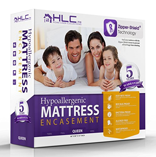 100% Waterproof & Bed Bug Proof Encasement - Breathable - Dust Mite Proof Mattress Protector - 5 Year Warranty - Full Size (Mattress Encasement Full Size compare prices)