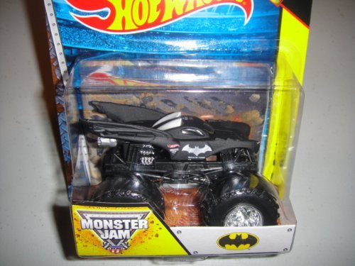 HOT WHEELS 2014 RELEASE BATMAN 1:64 SCALE MONSTER JAM WITH EXCLUSIVE MONSTER JAM FLAG DIE-CAST