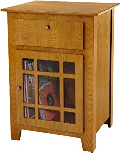 Crosley ST73-OA Richmond Entertainment Center Cabinet (Oak)