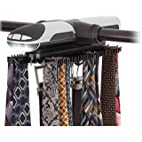Honey-Can-Do HNG-03222 Battery Powered Rotating Tie and Belt Closet Organizer, Holds Up to 72 Ties/8 Belts