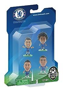 SoccerStarz Chelsea 4 Player Blister Pack Version B Home Kit (Blue/ White) from Creative Toys Company