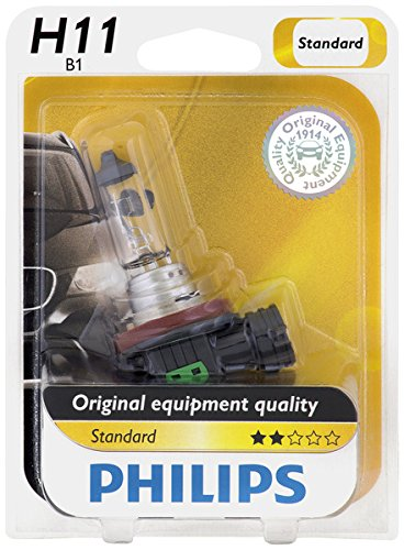 Philips H11 Standard Halogen Replacement Headlight Bulb, 1 Pack (Mitsubishi Lancer 2012 Headlight compare prices)