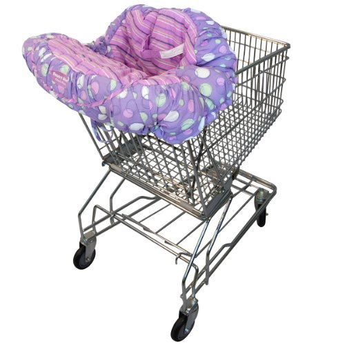 Floppy Seat® Shopping Cart and High Chair Cover, EZ Carry BagTM Style -Grape Sorbet