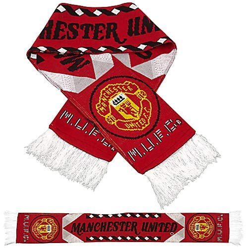 Premiership Soccer Fan Scarf of Manchester United