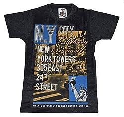 Boys T-Shirt Round Neck - Cotton - Shorts Sleeve by Arshia Fashions