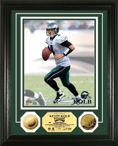 Highland Mint NFL Philadelphia Eagles Kevin Kolb 24KT Gold Coin Photomint
