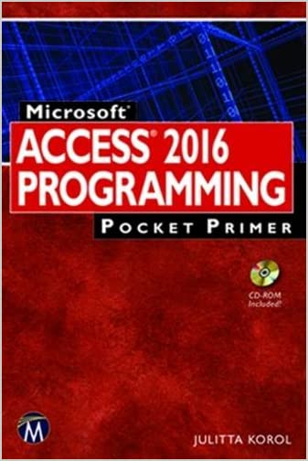 Microsoft Access 2016 Programming Pocket Primer By JulittaKorol