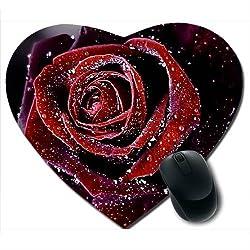 Awwsme Red And White Roses Heart Mousepad