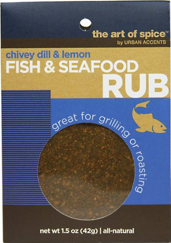 Urban Accents Fish & Seafood Rub-1.5 0z-Rub