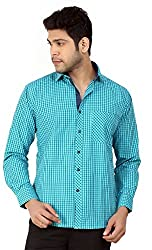 Basilio's Green Colored Semi Formal Shirt For Men-XXL