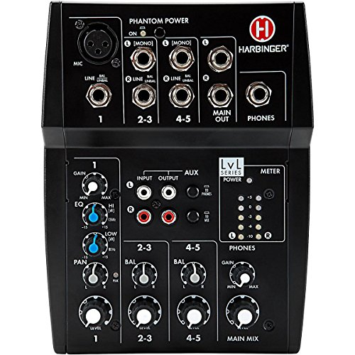 Harbinger L502 5-Channel Mixer with XLR Mic Preamp (2 Channel Xlr Mixer compare prices)