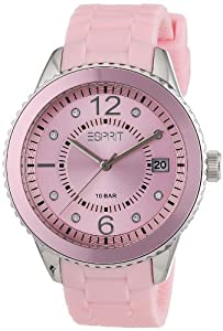 Esprit Marin 68 Pastel Women's Quartz Watch with Pink Dial Analogue Display and Pink Silicone Strap ES105342021
