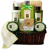 Green Tea Zen Calming Tea Bath and Body Gift Basket Spa Set