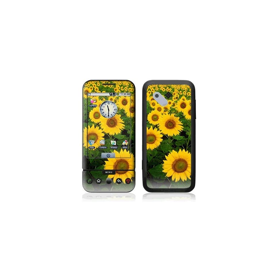 Sun Flowers Decorative Skin Cover Decal Sticker for HTC T Mobile Google G1 Cell Phone