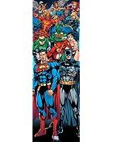 1art1 58694 Poster de Porte Ligue de Justice d'Amérique DC Comics Super-Héros 158 x 53 cm