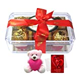 Chocholik Luxury Chocolates - Great Collection Of Wrapped Truffles With Teddy And Love Card