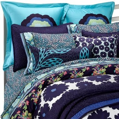 AMY BUTLER Blue DREAM DAISY Floral 3PC FULL/QUEEN