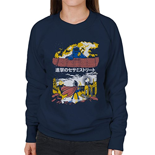 Attack On Sesame Street Cookie Monster Titan Women's Sweatshirt