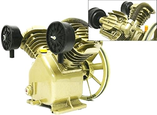 Twin Cylinder V Style Air Compressor Pump 3HP 2 Piston Motor Head!